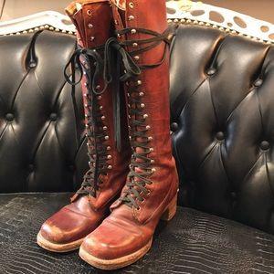 RARE FRYE Black Label Boots